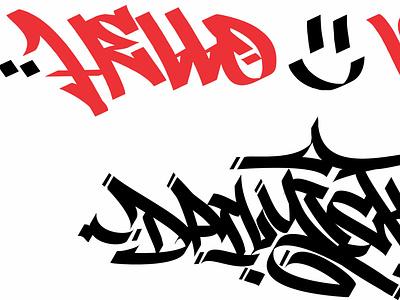 tagging graffiti streetwear brand throwup handstyle lettering streetart branding vector graffiti tagging