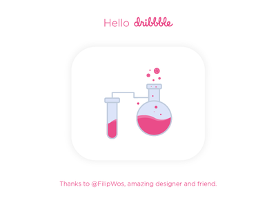 Hello Dribbble! thank you first shot dribbble debut game shot invite icon hello illustration