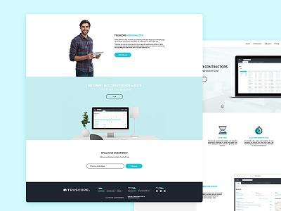 TRUSCOPE - Website ux ui clean site web website page software landing homepage design