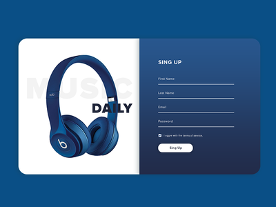 Daily UI #01 01 001 log in sing up challenge blue dailyui up sign ux ui dashboard