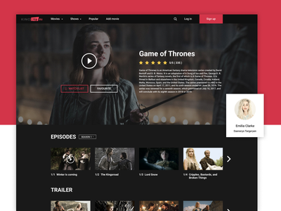 Kinotip Show Page game of thrones play media video dark trailer tv movies webdesign series show movie