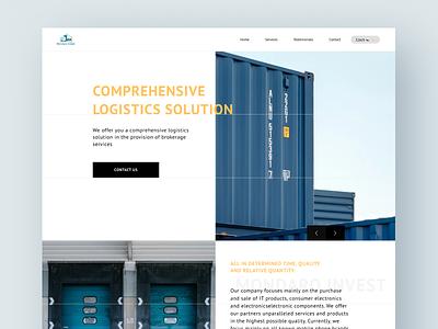 Mondaro Invest website interaction design ui design blue design logistic delivery parcel shipment logistics ux ui