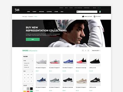 5M fencing - catalog white clean shopify clothes ui ux wear cart store shop catalog design fencing shoes product eshop ecommence catalog