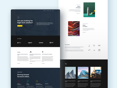 Starky's club Landing page clean minimal blue programming agency product page website landing interface ui ux