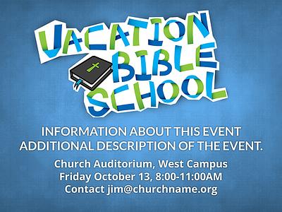 Proclaim Set: Vacation Bible School logos bible software proclaim scripture kids vacation bible school church texture fun paper children slideshow school