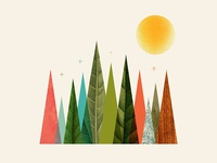 Psalm 69:43 verse scripture illustration sun abstract mountain vintage stars type texture custom