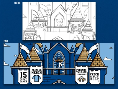 The Keep at Kauffman Social - KC Royals Fan Club Graphics design illustration castle sports kansascity royals baseball mlb