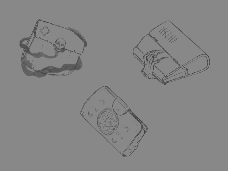 D&D Armory 006 Sketch: Wallet of the Slayer dungeons and dragons dungeonsanddragons dnd dndarmory adobe design illustration