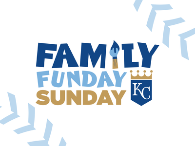 KC Royals - Family Funday Sunday Logo kcmo marketing logo baseball mlb kansascity royals