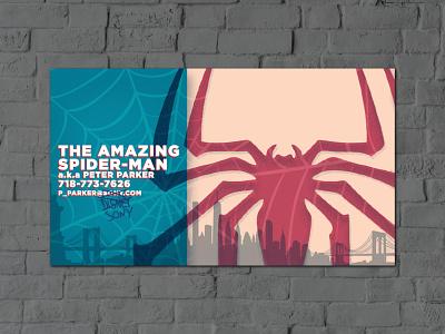 Spider-Man Business Card graphic design marvel spider-man superhero business card design