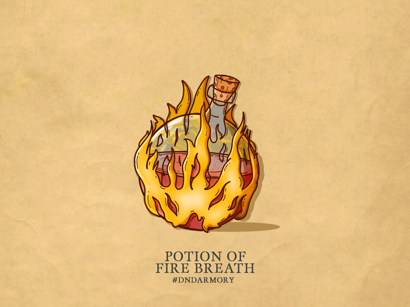 D&D Armory 003 - Potion of Fire Breath illustration dnd dndarmory