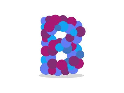 B Letterform font warmup circle letterform