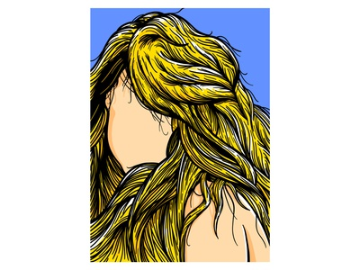 Rapunzel portrait hair hairstyle girls poster woman illustration
