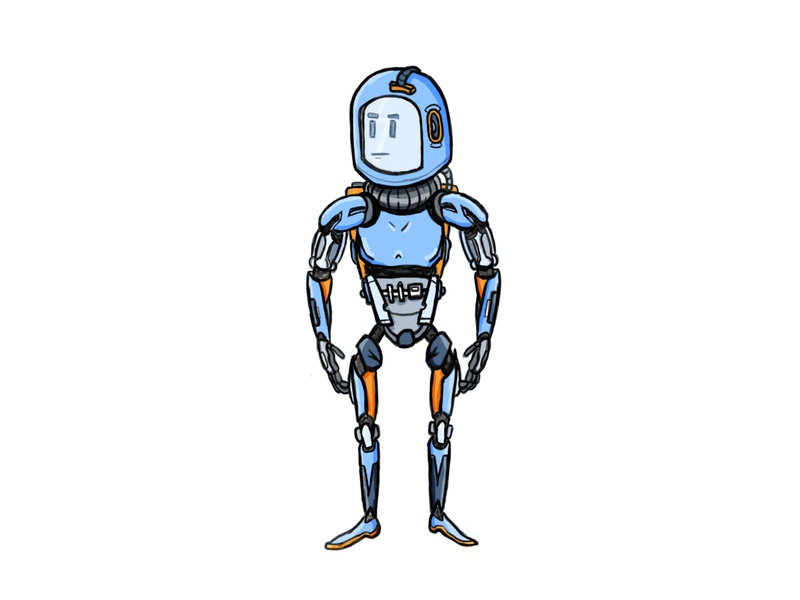 Dribbble Warmup - Lucky character photoshop adobe character design design illustration robot
