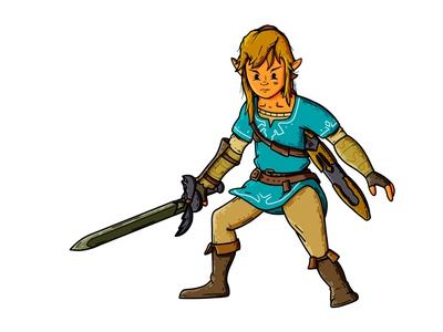 Breath of the Wild Link character design master sword hyrule switch botw breath of the wild zelda link nintendo