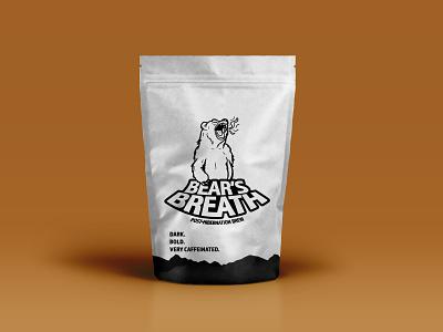 Bear's Breath Coffee bear illustration graphic design logodesign logo branding coffee coffeeshop weekly warm-up