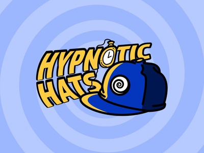 Hypnotic Hats Branding vector photoshop adobe logo branding design illustration