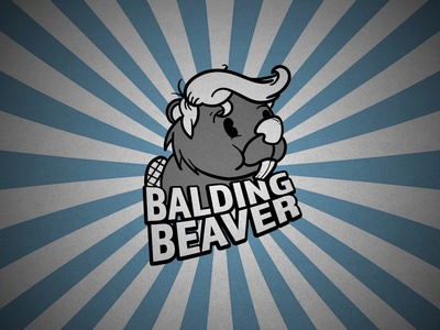 Balding Beaver photoshop branding adobe logo design illustration