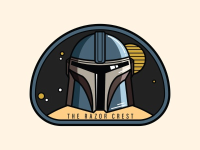 The Razor Crest Patch - The Mandalorian logo vector adobe razor crest baby yoda the mandalorian star wars