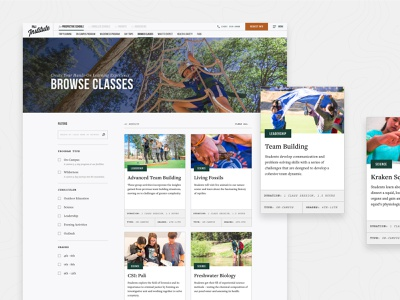 Pali Institute –Programs 829 filter index field guide card design ui cards program cards program index programs program school web design site website ui nature outdoor education education outdoor
