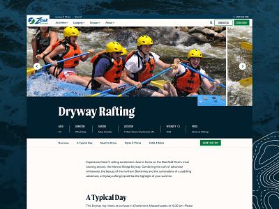 Zoar Outdoor –Adventure Profile 829 website ui ux ui program profile program adventure profile profile sport nature white water rafting kayaking rafting outdoor adventure