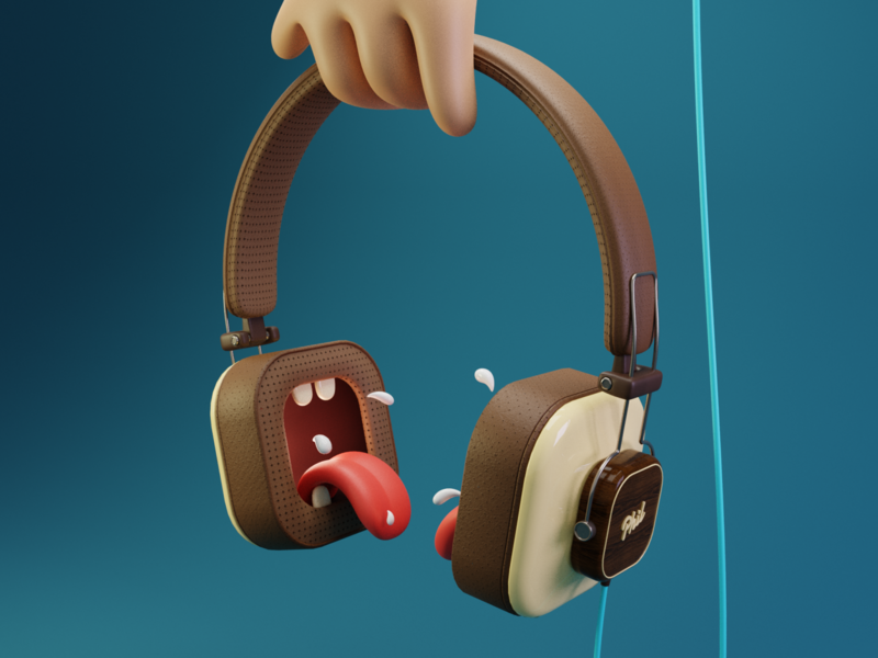 Loud Headphone modeling digital art digitalart cycles illustration design blender blender3d