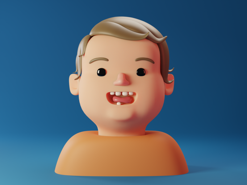 My baby Vince character baby modeling cartoon cycles 3d art illustration 3d blender3d blender