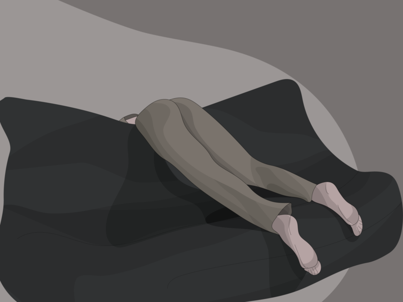 in the mood for procrastination tired procrastination procrastinate girl ui web vector illustrator art app minimal illustration flat design