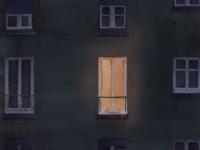 awake again light blue building procreate awake night ui web vector illustrator art app minimal illustration flat design