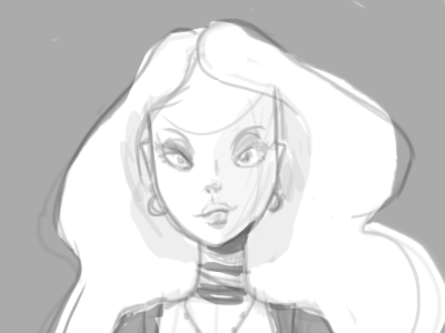 Ginger Snaps sketch concept goth girl