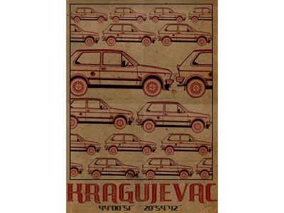 Kragujevac city poster