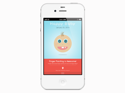 Baby Mood Mobile App app mobile apple ios baby blue pink mood colorful character flat psd