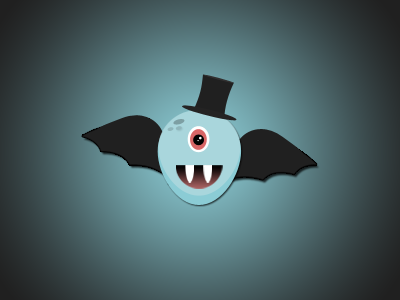 Halloween Monster wings monster character psd photoshop vampire halloween gradient simple top hat ui
