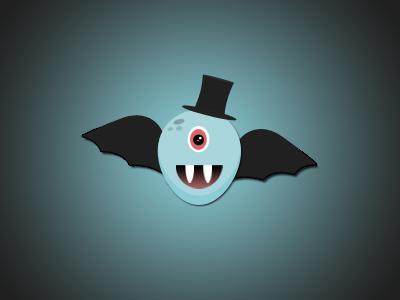 Halloween Monster wings monster character psd photoshop vampire halloween gradient simple top hat ui