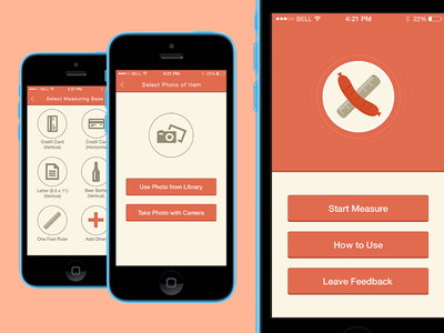 iOS7 Measuring App grid ios7 psd measure flat icons simple logo app mobile navigation ux