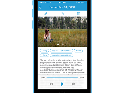 Journal/Recording App default play transparent record audio pagination scroll ios 7 flat line icons iphone journal