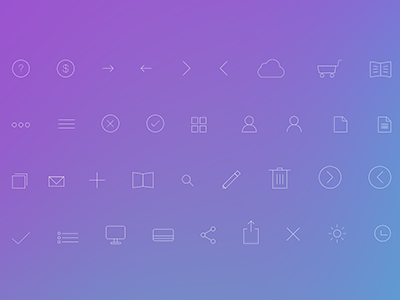Simple Line Icons PSD flat stroke set line icons simple ios7 free freebies psd download icon set pack