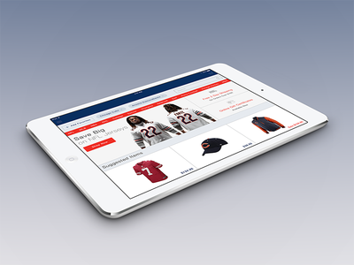 iPad eCommerce Application ios tablet ipad ux ui flat simple icons ecommerce app minimal sports