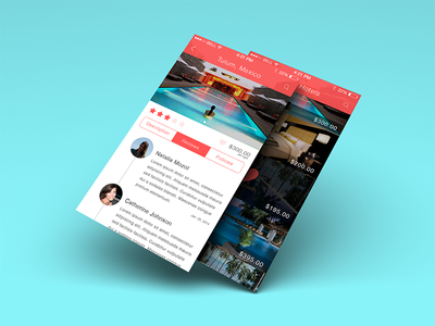 Hotel Concept iOS 7 App default ios7 review edge to edge overlay flat app concept buttons heart iphone timeline