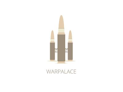 WarPalace Logo Template logo vector sale war palace castle bullet
