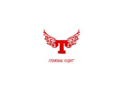 Flight Logo Template vector illustration fly flight terminal sky red