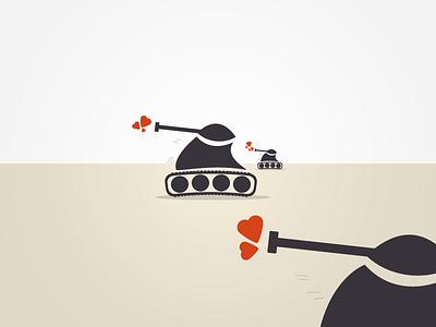 Spread love not start wars war vector tank tanks illustrator heart peace peaceful