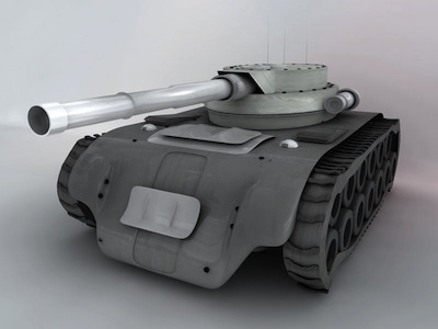3D Tank in Cinema 4D - Just for Fun!