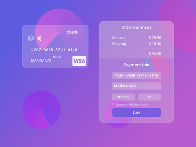 DailyUI :: 002 Credit Card Checkout blur glass order summary payment form glassmorphic glassmorphism credit card checkout credit card payment credit card checkout form checkout web ui design