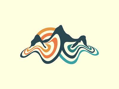 kcd mountain contours color contour contours mountains mountain outdoor logo outdoors outdoor