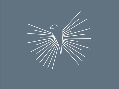 Monoline Bird Art clean high end minimal illustration minimalism minimal simple design simple bird logo bird monoline art monoline logo monoline