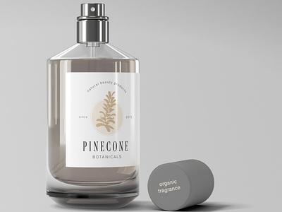 Pinecone Botanicals Label graphic design fragrance label label design vector branding design logo development logo branding logo design high end clean