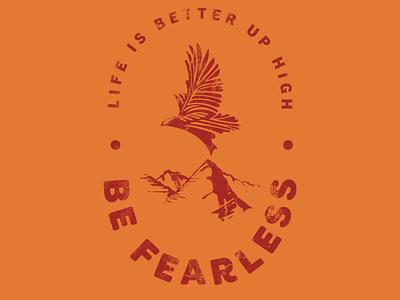 Be Fearless brand design logo development illustration outdoors branding design logo design logo outdoor logo high end clean
