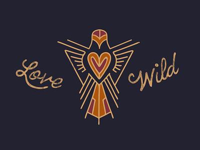 Love Wild vector branding monoline logo designer love wild bird outdoors logo development illustration clean high end logodesign