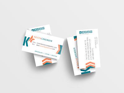 Krista Cavender Graphic Design personal logo lettermark vector branding design logo design branding logo high end clean personal project business card design identity design business identity graphic designer personal branding personal brand